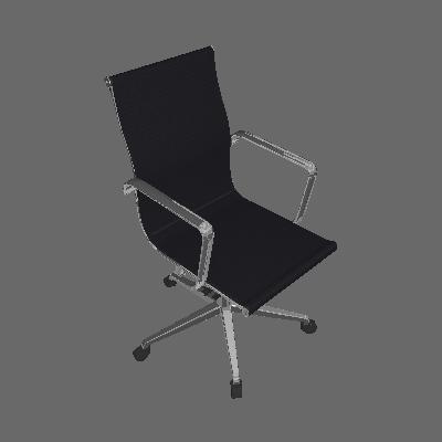 Cadeira Office Sevilha Baixa Tela Preta - Rivatti