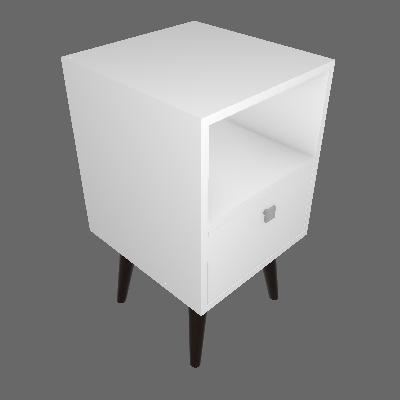 Mesa de Cabeceira Edge 1 GV Branca - BRV Móveis