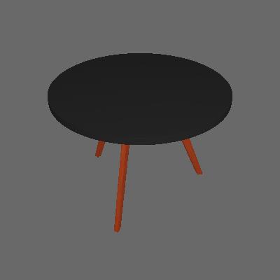 Mesa de Jantar Redonda Tóquio Preta e Mel 120 cm - Mobly