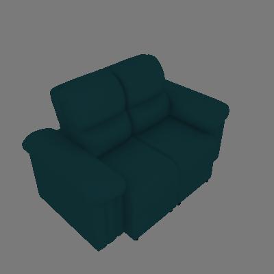 Sofá 2 Lugares Retrátil e Reclinável Versatto Suede Azul