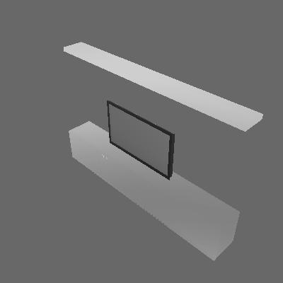 RACK PRETO COM PRATELEIRA 35.5x244x159cm