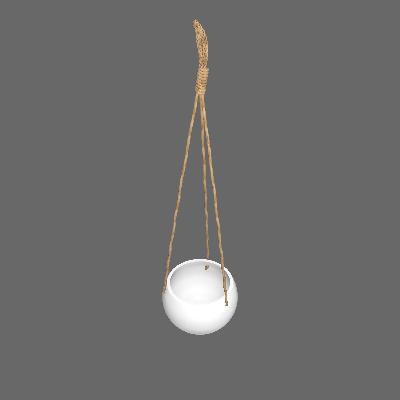 Vaso Cerâmica Rustic Natural Médio Branco (89875135)