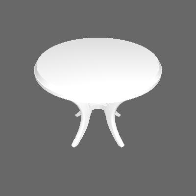Mesa Plástica Redonda Riviera Branca Dolfin - Dolfin