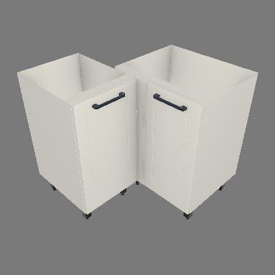 Gabinete de Canto 02 Portas sem Tampo (GC90°-2P-ST)