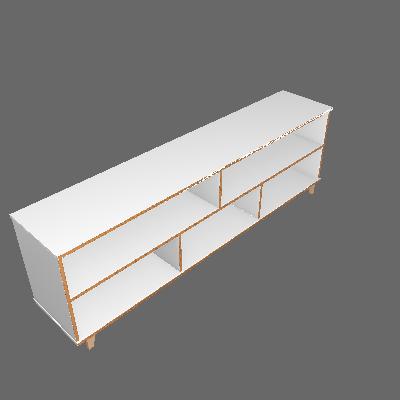 Rack Genova Branco 180 cm - BRV Móveis
