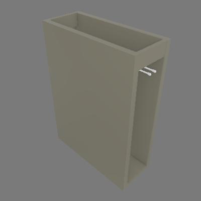 Balcão Porta Toalha 200 mm - Dir (C463)
