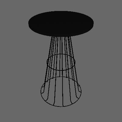 Mesa Lateral Redonda Zed Preta - Metaltru