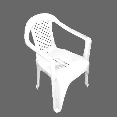 Cadeira Plástica com braço Branca Dolfin - Dolfin
