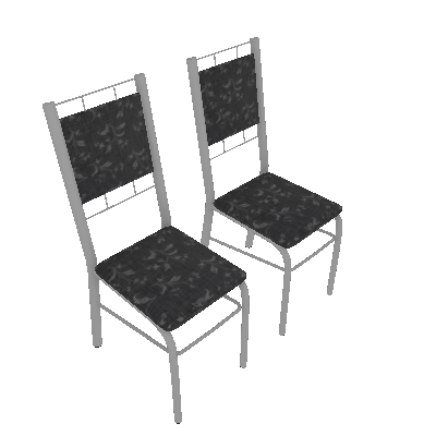 Conjunto com 2 Cadeiras Ney II Preto - Carraro