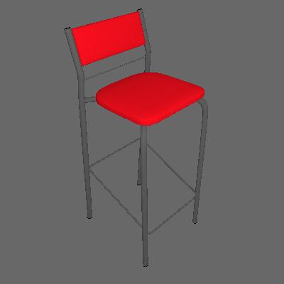 Conjunto com 2 Banquetas Tupã Vermelho Real - Carraro Móveis