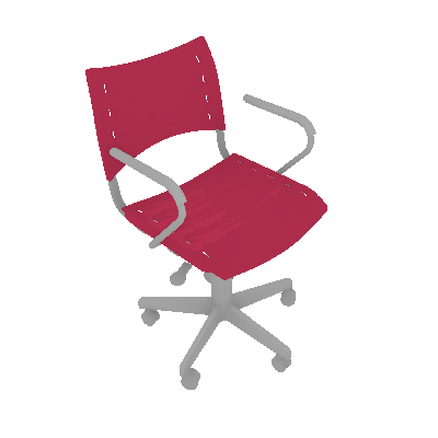 Cadeira de Escritório Evidence Giratória Branca e Rosa - Absolut