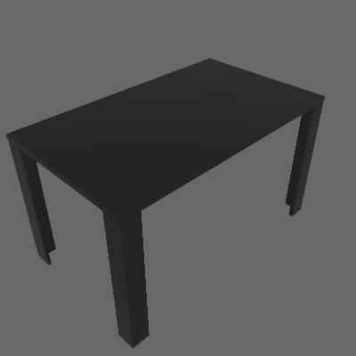 Mesa de Jantar Retangular Liv Preta 136 cm - Appunto