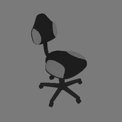 Cadeira de Escritório Secretária Giratória Verona Cinza - Absolut
