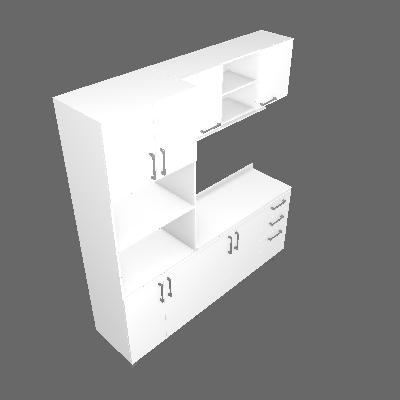 Cozinha Compacta Floripa 8 PT 3 GV Branca - Politorno