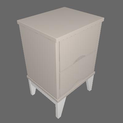 Mesa de Cabeceira Twister 2 GV Off White e Branca - Tcil