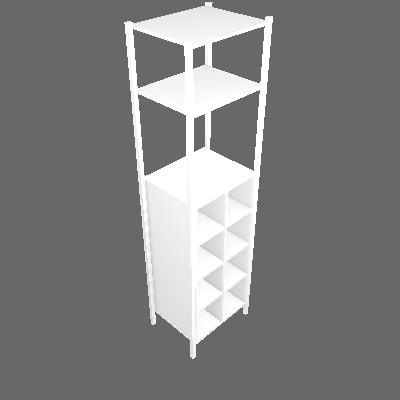 Guarda-Roupa Closet Modulado Oxford Branco - Artefamol