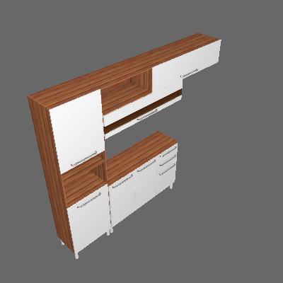 Cozinha Compacta Carménere 5 PT 2 GV I Branca e Sevilha - Ronipa
