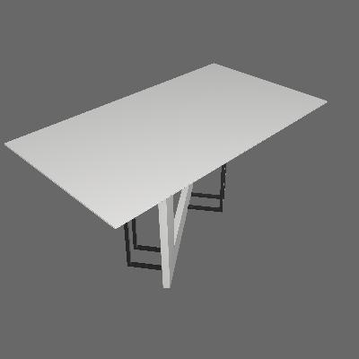 Mesa de Jantar Retangular com Tampo de Vidro Munique Off White 160 cm - New Ceval