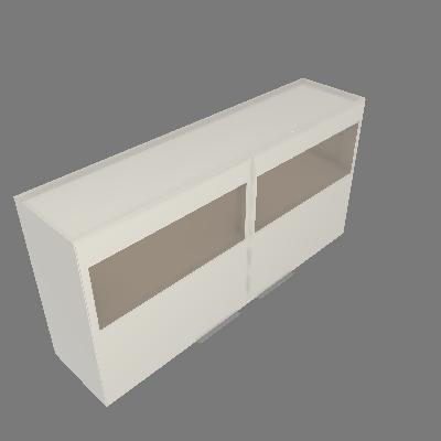 Armário Vertical 02 Portas Com Vidro (AV120-2PV)