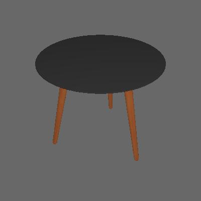 Mesa de Jantar Redonda Bruna Preta e Natural 90 cm - Artesano