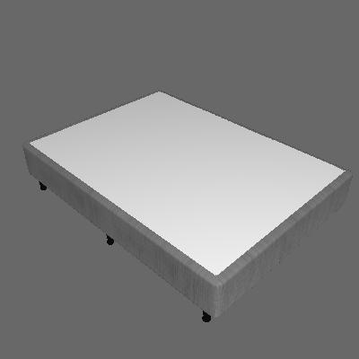 Base para Cama Box Casal Columbus (29x138x188) Cinza - Inducol