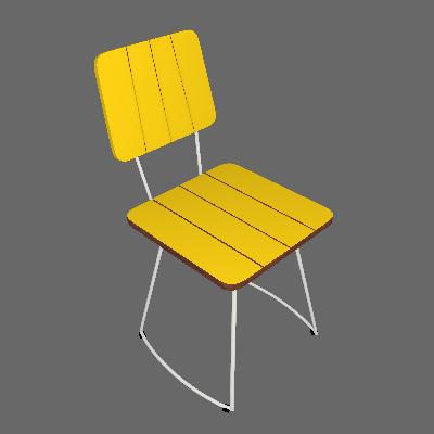 Cadeira Costela Meia Lua Amarelo - Daf