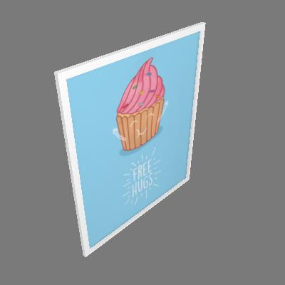 Quadro Cupcake Grande (3244BAH)