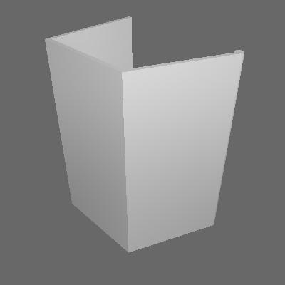 Kit Puxador para Porta de Espelho (0048K)