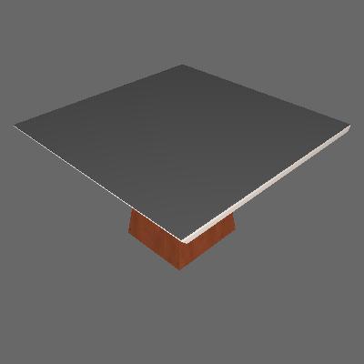 Mesa de Jantar Quadrada Riviera Chocolate e Off White 135 cm - Cel Móveis