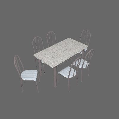 Conjunto de Mesa Primavra com 6 Cadeiras Craqueado Preto Linho - Artefamol