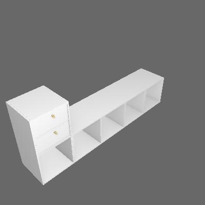 Nicho Multifucional Dominox 2 GV Branco - Belmax