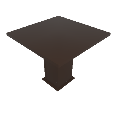 Mesa de Jantar Quadrada Sirius Tabaco 90 cm - Zamarchi