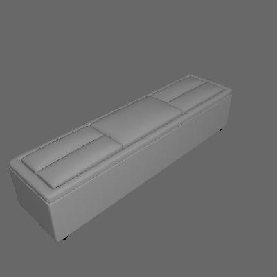 Puff Baú Turquesa Plus Suede Preto 197 cm - Império Estofados