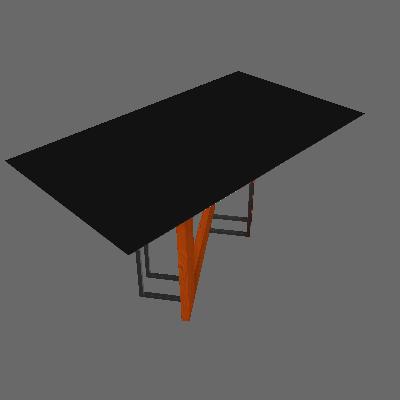 Mesa de Jantar Retangular com Tampo de Vidro Munique Ipê e Preta 160 cm - New Ceval