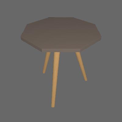 Mesa Lateral Octogonal Delfos Cinza - Ornament