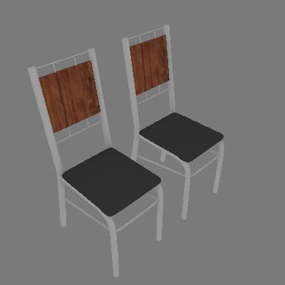 Conjunto com 2 Cadeiras Wos I Preto - Carraro