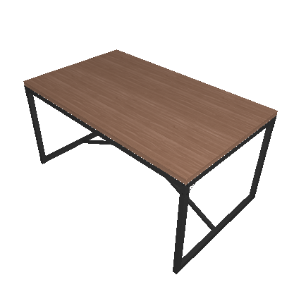 Mesa de Jantar Retangular Steel Arizona 90 cm - Artesano
