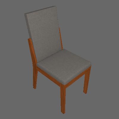 Conjunto com 4 Cadeiras Lira Rovere e Cinza - Lopas