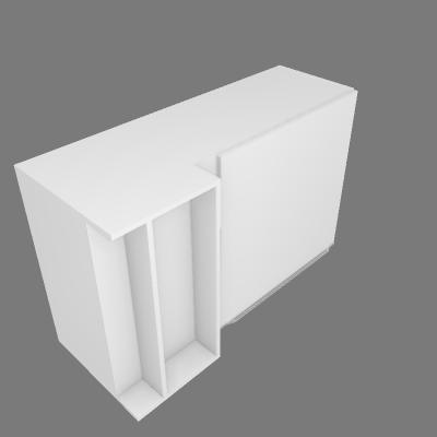 Aéreo de Canto-Reto com 01 Porta (P440)