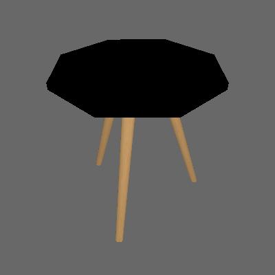 Mesa Lateral Octogonal Delfos Preta - Ornament