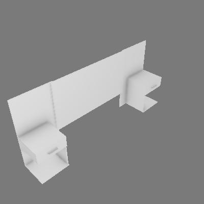 Cabeceira Casal Calenda com 02 Criados-mudos (D602)