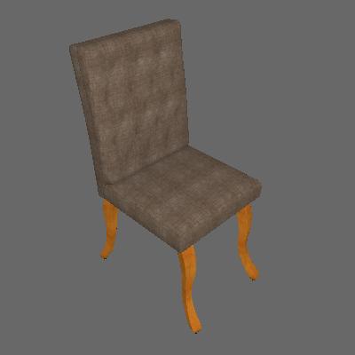 Cadeira Leonardo Da Vinci I Capitonê Linho Dourado - Mobly
