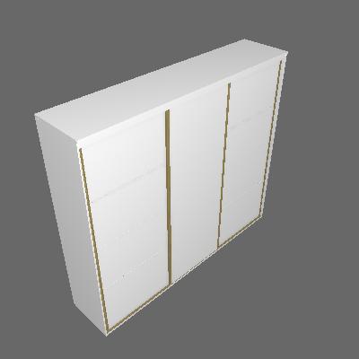 Guarda-Roupa Casal com Espelho Eleganza ll 3 PT 3 GV Branco - Belmax