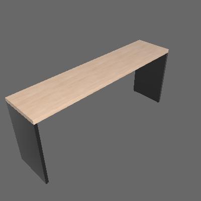 Mesa para Notebook Natus Preta e Geneve 180 cm