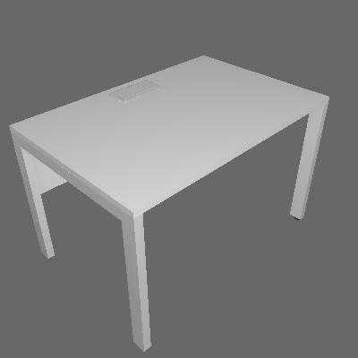 Mesa Individual com Eletrocalha P: 800mm