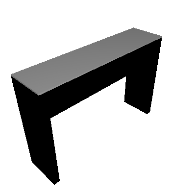 Aparador Aurora Preto (80x120) - Falkk
