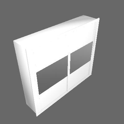 Guarda-Roupa Casal com Espelho Corcovado Top Branco 2 Pt 6 Gv