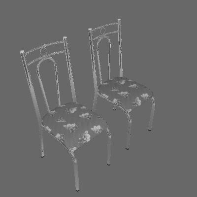 Conjunto 2 Cadeiras 023 Iguatemi Branco - Artefamol