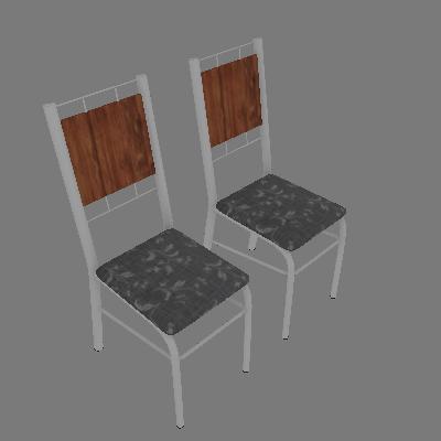 Conjunto com 2 Cadeiras Wos II Preto - Carraro