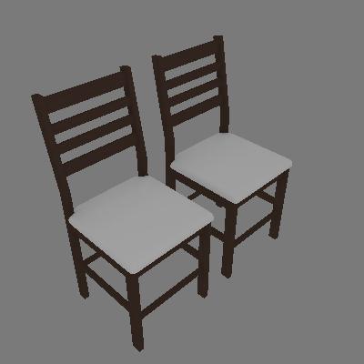 Conjunto 2 Cadeiras Cristina Castanho e Branco - Piratini